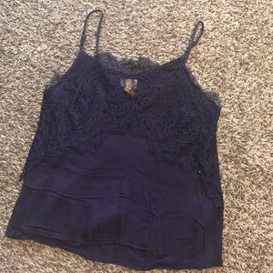 Lace Tank Top in Blue